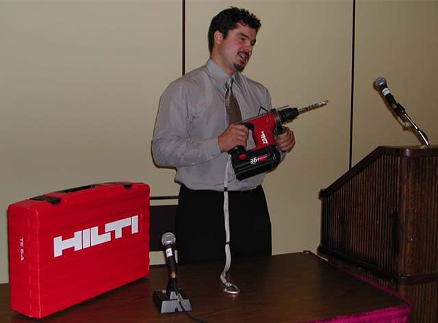 Caving - introduction to the Hilti eqipment