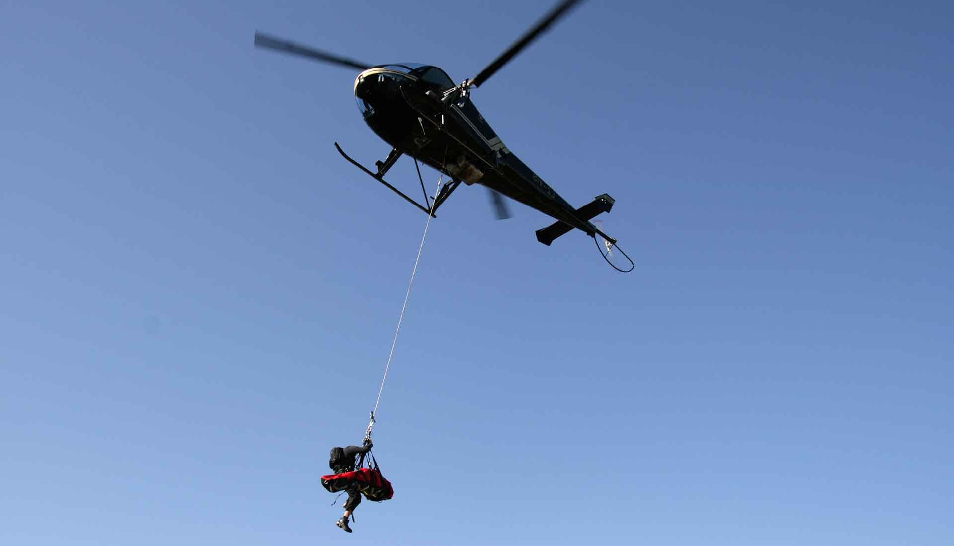 helicopter rope access rescue