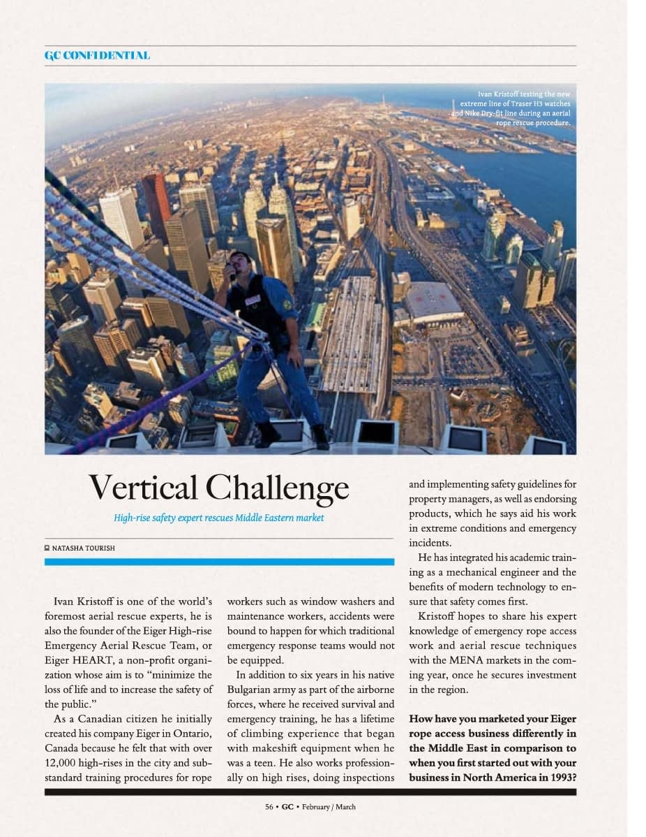 Vertical Challenge for Rope Access in Dubai