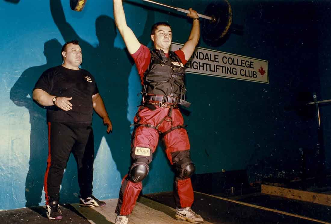 "#Specialized #powerlifting #training at the #Erindale #College at the #UofT with Antonio Krastev, two-time #world #weightlifting #champion. He was called the ""strongest man on the planet"" by Power Lift magazine after lifting 476 pounds in 1987, setting a #worldrecord that remained unbeaten for nearly 30 years."